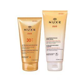 Nuxe Sun Set Με Αντηλιακό Γαλάκτωμα Προσώπου/Σώματος Spf30 150ml & Δώρο Αφρόλουτρο/Σαμπουάν Για Μετά Τον Ήλιο 200ml