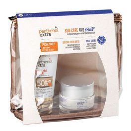 Panthenol Extra Set Με Sun Care Αντηλιακό Τζελ Προσώπου Με Χρώμα Spf50 50ml & Αντιρυτιδική & Συσφικτική Κρέμα Νυκτός 50ml & Δώρο Ένα Υπέροχο Νεσεσέρ