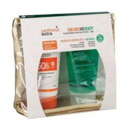 Panthenol Extra Set Με Sun Care Αντηλιακό Γαλάκτωμα Προσώπου/Σώματος Spf50 150ml & Aloe Vera Τζελ Για Δροσιά & Ενυδάτωση 150ml & Δώρο Ένα Υπέροχο Νεσεσέρ