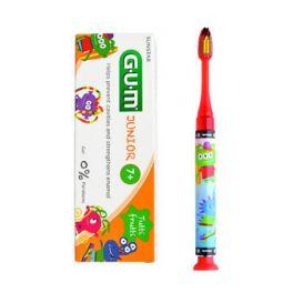 Gum Monster Set Οδοντόβουρτσα Με Φωτάκι 1 Λεπτού Μαλακή Σε Δύο Χρώματα & Δώρο Παιδική Οδοντόκρεμα Με Γεύση Tutti Frutti 50ml