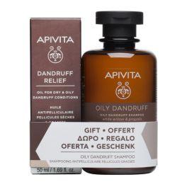 Apivita Set Με Oily Dandruff Σαμπουάν Κατά της Λιπαρής Πιτυρίδας Λευκή Ιτιά & Πρόπολη 250ml & Δώρο Dandruff Relief Oil Λάδι Κατά Της Ξηροδερμίας & Της Πιτυρίδας 50ml