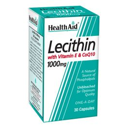 Health Aid Lecithin Co-Q10 Φυσικός Λιποδιαλύτης 30 Κάψουλες