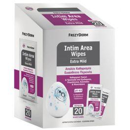 Frezyderm Intim Area Wipes Extra Mild pH4.0 Μαντηλάκια Καθαρισμού Για Την Ευαίσθητη Περιοχή 20 Φακελάκια
