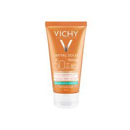 Vichy Ideal Soleil Αντιηλιακή Κρέμα Προσώπου Για Ματ Αποτέλεσμα Με Χρώμα Για Λιπαρό/Μικτό Δέρμα Spf50 50ml
