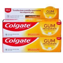 Colgate Gum Invigorate Revitalise Φθοριούχος Οδοντόκρεμα για Καθημερινή Στοματική Υγιεινή 75ml 1+1