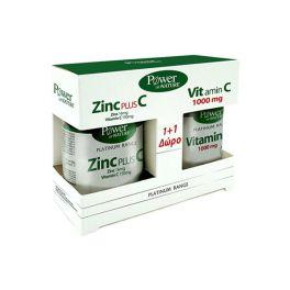 Power Health Platinum Συμπλήρωμα Διατροφής με Ψευδάργυρο 16mg & Βιταμίνη C 150mg 30 ταμπλέτες & Δώρο Βιταμίνη C 1000mg 20 ταμπλέτες 1+1
