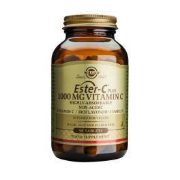 Solgar Ester-C Plus 1000mg Vitamin C Βιταμίνες 90 Tabs