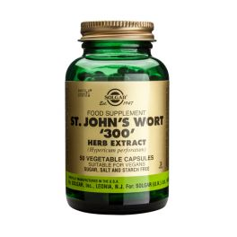"Solgar St. John's Wort ""300"" Herb Extract (Hypericum perforatum) Ενισχυμένα Φυτικά Εκχυλίσματα 50 Veg. Caps"