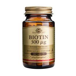 Solgar Biotin 300mcg Βιταμίνες 100 Tabs