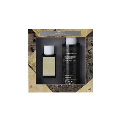 Korres Gift Set For Him Black Pepper, Cashmere & Lemonwood Eau de Toilette 50ml & Shower Gel 250ml