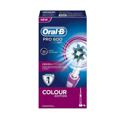 Oral-B Pro 600 CrossAction Ηλεκτρική Οδοντόβουρτσα Ροζ
