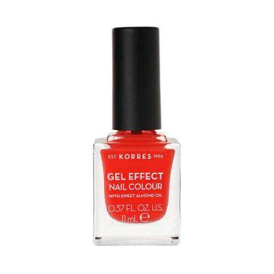Korres Gel Effect Βερνίκι Νυχιών Με Αμυγδαλέλαιο 45 Coral 11ml
