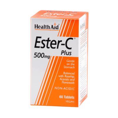 Health Aid Ester-C Plus 500mg Vegan 60 Ταμπλέτες