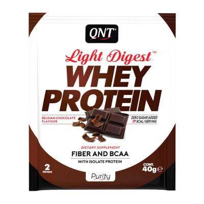 QNT Light Digest Whey Protein Η Νέα Γενιά Πρωτεΐνης Με Γεύση Belgian Chocolate 40g