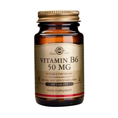 Solgar Vitamin B6 50mg Βιταμίνες 100 Tabs