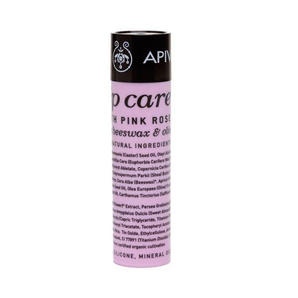 Apivita Lip Care Ενυδατικό Στικ Χειλιών Με Ροζ Τριαντάφυλλο 4,4g