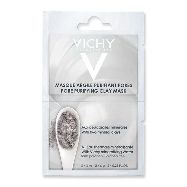 Vichy Μάσκα Αργίλου Για Καθαρισμό Προσώπου 2x6ml