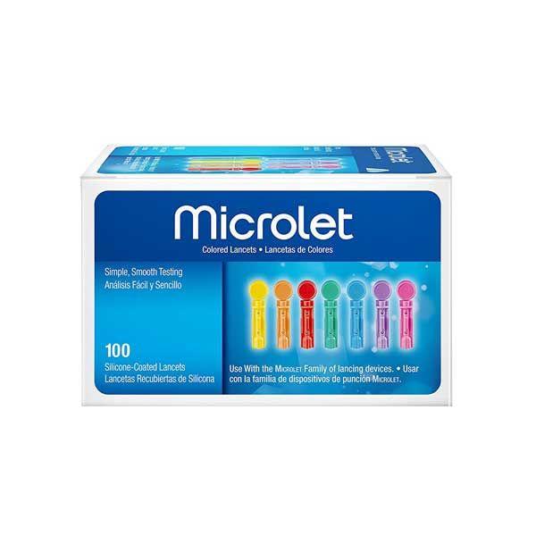 Ascensia Microlet Χρωματιστές Βελόνες Μέτρησης Σακχάρου 100τμχ