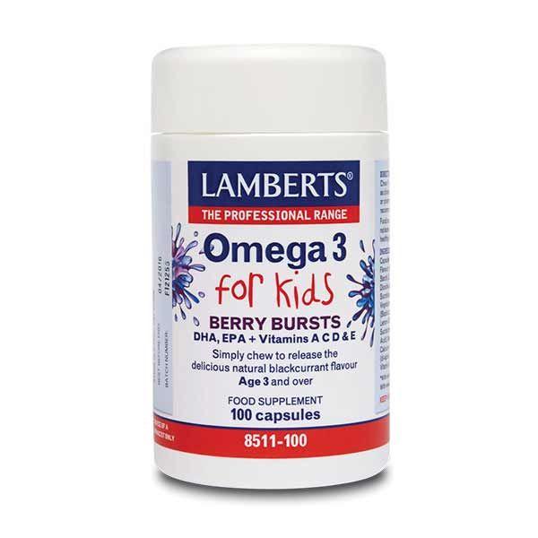Lamberts Omega 3 for Kids 100 κάψουλες