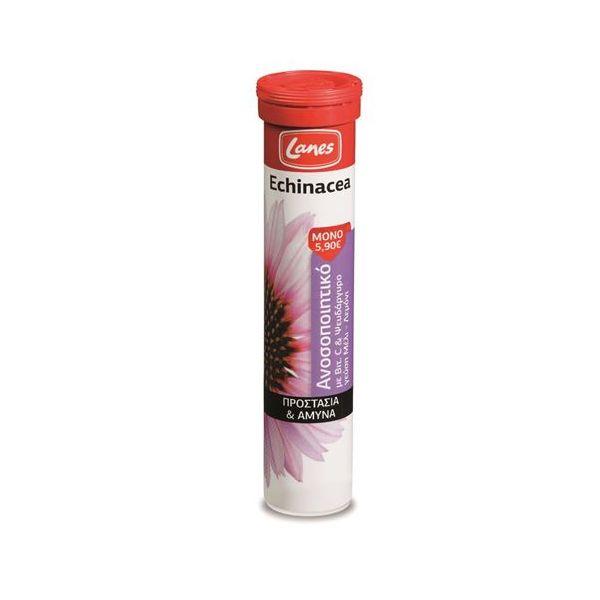 Lanes Echinacea Vitamin C 20 αναβράζοντα δισκία Μέλι - Λεμόνι