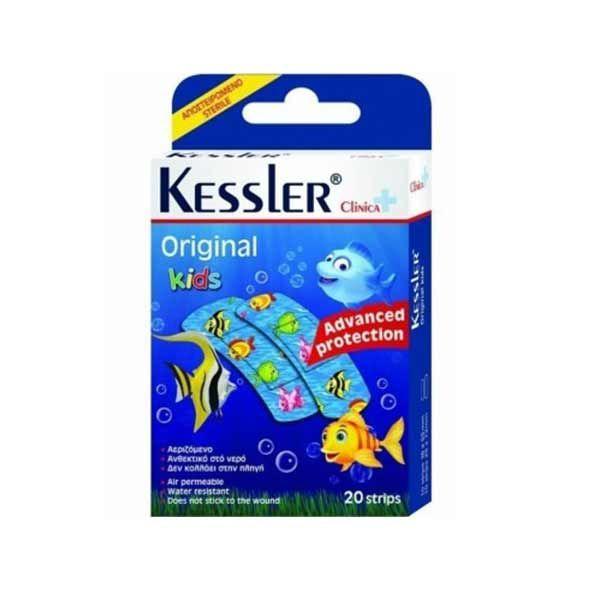 Kessler Clinica Original Kids Ψαράκια Αποστειρωμένα Παιδικά Αυτοκόλλητα 20τμχ