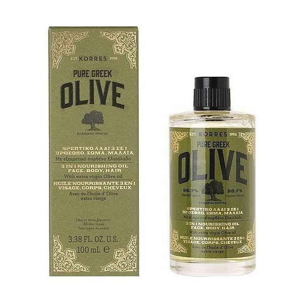 Korres Olive Θρεπτικό Λάδι 3 Σε 1 Για Πρόσωπο/Σώμα/Μαλλιά 100ml