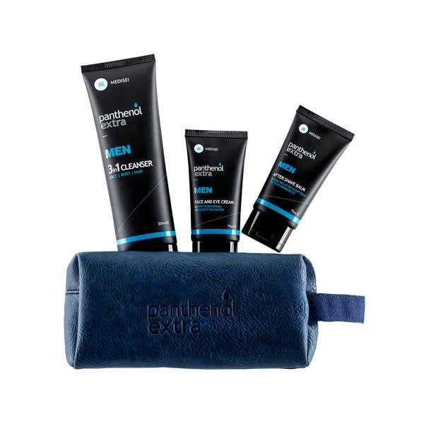 Panthenol Extra Men Gift For Him Set Ολοκληρωμένη Περιποίηση Για Τον Άνδρα Σε Νεσεσέρ Με 3 Προϊόντα