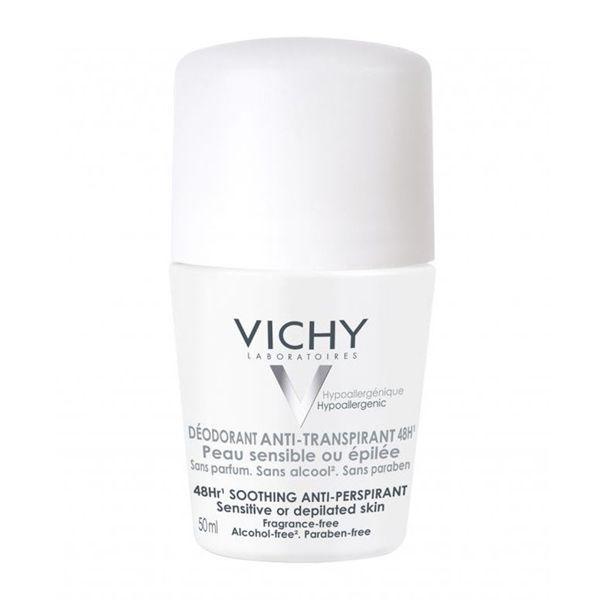 Vichy Αποσμητικό Roll-On 48h Για Ευαίσθητες Επιδερμίδες 50ml