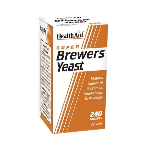 Health Aid Super Brewers Yeast Μαγιά Μπύρας 240 Ταμπλέτες