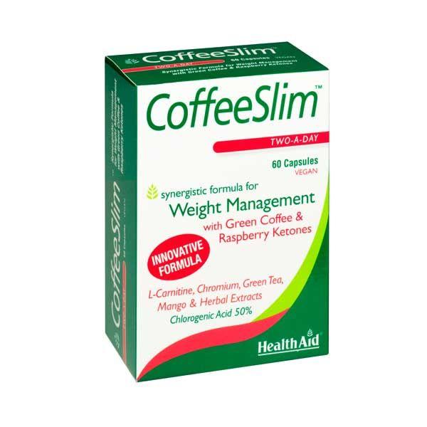Health Aid Coffee Slim Για Ασφαλή Διαχείριση Του Βάρους Vegan 60 Κάψουλες