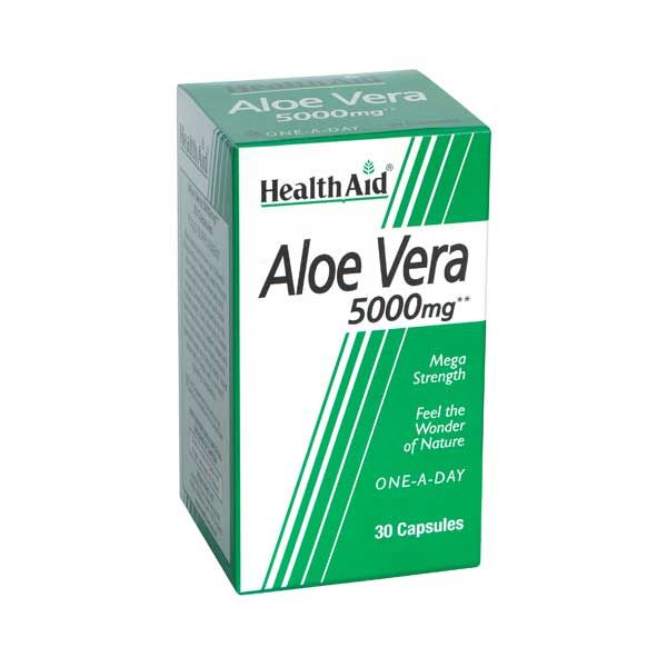 Health Aid Aloe Vera 5000mg 30 Κάψουλες