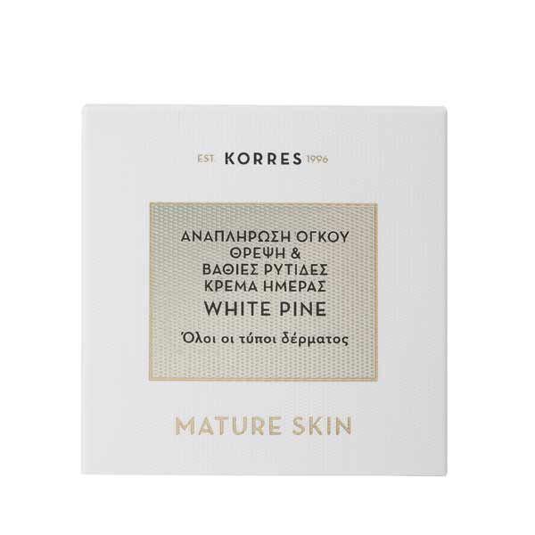 Korres Λευκή Πεύκη Κρέμα Ημέρας Προσώπου Για Αναπλήρωση Όγκου - Θρέψη & Βαθιές Ρυτίδες Για Ώριμο Δέρμα 40ml