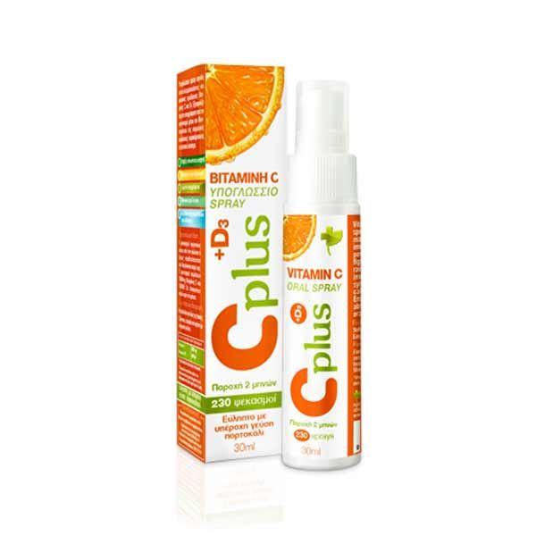 Bioplus Cplus Υπογλώσσιο Spray Βιταμίνης C & D3 30ml