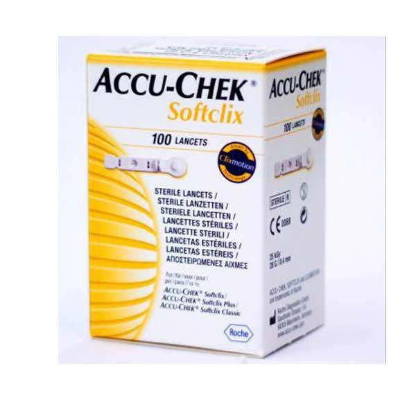 Accu-Check Softclix Σκαρφιστήρες Μέτρησης Σακχάρου 100τμχ