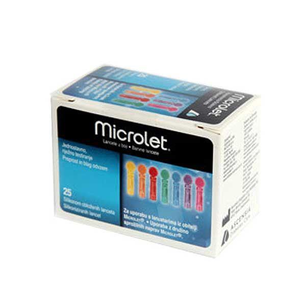 Ascensia Microlet Χρωματιστές Βελόνες Μέτρησης Σακχάρου 25τμχ