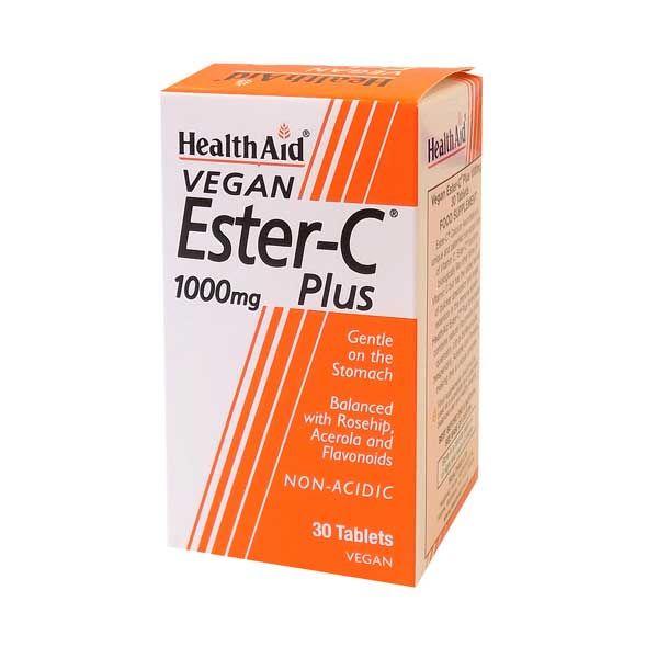 Health Aid Ester-C Plus 1000mg Vegan 30 Ταμπλέτες