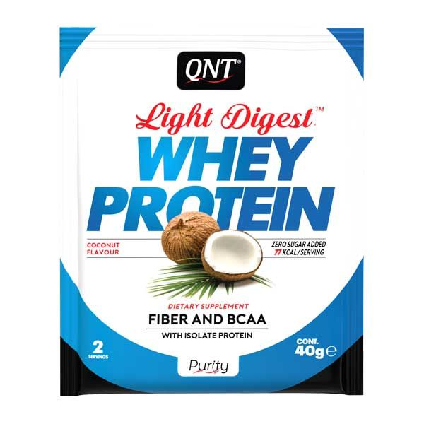 QNT Light Digest Whey Protein Η Νέα Γενιά Πρωτεΐνης Με Γεύση Coconut 40g