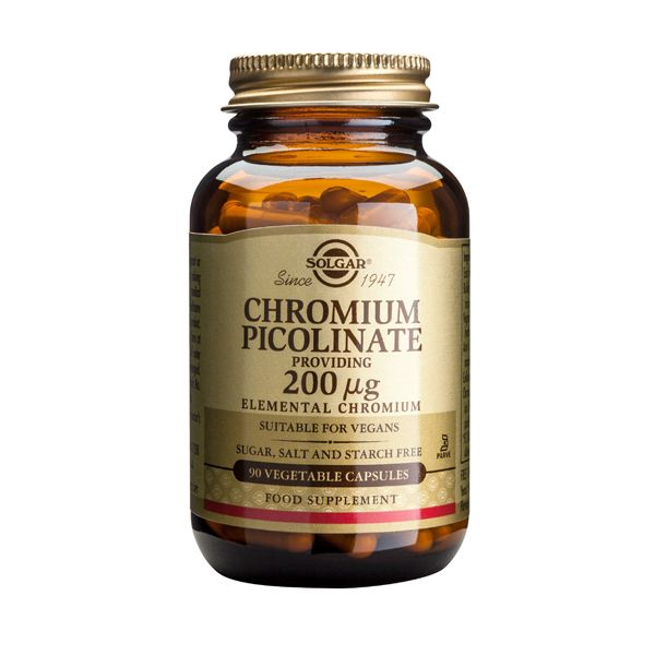 Solgar Chromium Picolinate 200mcg Μέταλλα-Ιχνοστοιχεία 90 Veg. Caps