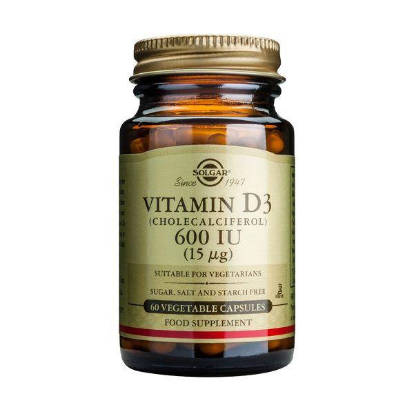 Solgar Vitamin D3 600IU 15mcg Βιταμίνες 60 Veg. Caps