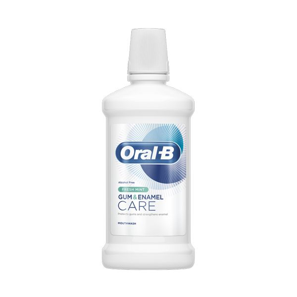 Oral-B Gum & Enamel Care Στοματικό Διάλυμα Με Γεύση Δροσερής Μέντας 500ml