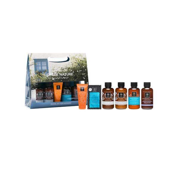 Apivita Travel Set Για Ευφορία Με Προϊόντα Περιποίησης Προσώπου, Σώματος & Μαλλιών Για Το Ταξίδι Σας