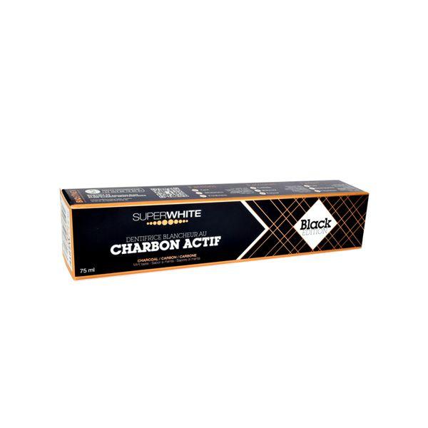 Superwhite Black Edition Λευκαντική Οδοντόκρεμα Με Ενεργό Άνθρακα 75ml