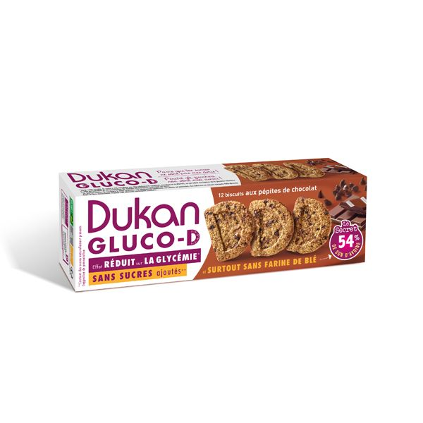 Dukan Μπισκότα Βρώμης Gluco-D Με Κομμάτια Σοκολάτας 100g