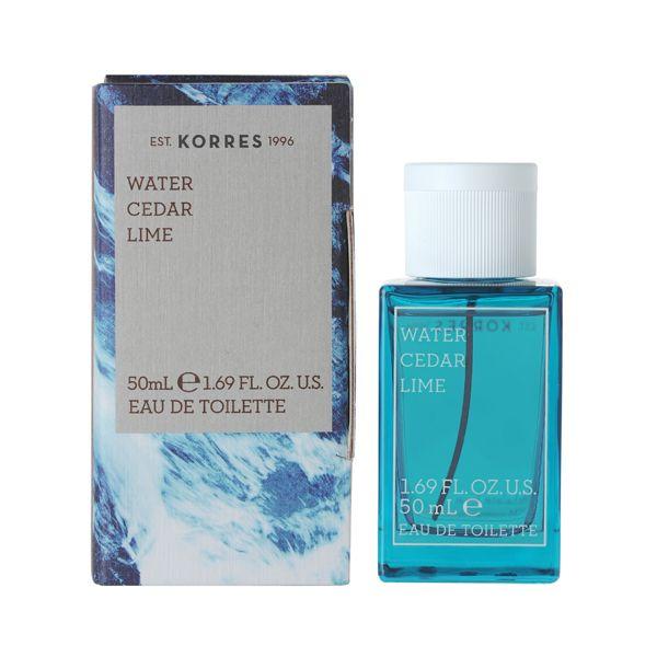 Korres Κολόνια Water, Cedar, Lime Eau De Toilette 50ml