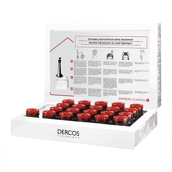 Vichy Dercos Aminexil Clinical 5 Πρόγραμμα Κατά Της Γυναικείας Τριχόπτωσης Πολλαπλής Στόχευσης 21*6ml