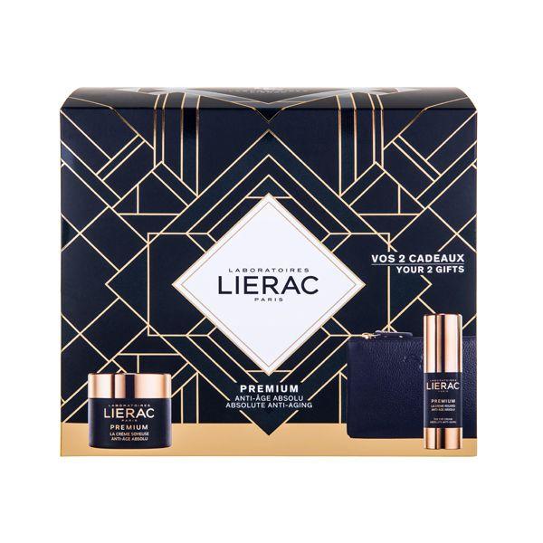 Lierac Premium Set Δώρου Με Κρέμα Προσώπου Ελαφριάς Υφής Με Ανυπέρβλητη Αντιγηραντική Αποτελεσματικότητα 50ml & Δώρο Κρέμα Ματιών Απόλυτης Αντιγήρανσης 15ml & Δερμάτινο Πορτοφόλι