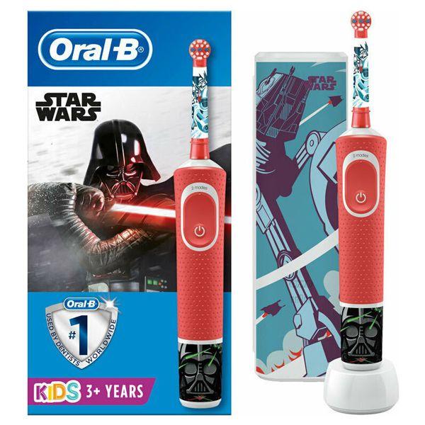 Oral-B Vitality Παιδική Ηλεκτρική Οδοντόβουρτσα Disney Star Wars & Δώρο Θήκη Ταξιδίου