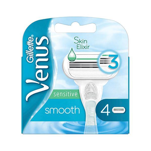 Gillette Venus Sensitive Smooth Ανταλλακτικά Ξυραφάκια Με 3 Λεπίδες 4τμχ