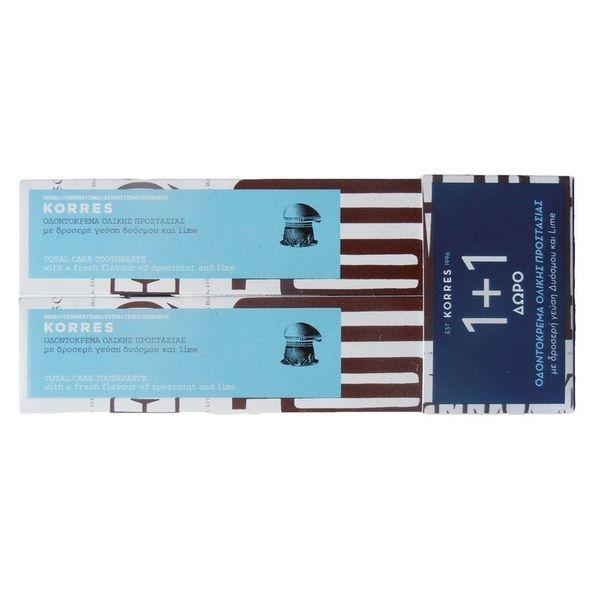 Korres Οδοντόκρεμα Ολικής Προστασίας με Δυόσμο 2 x 75ml Set
