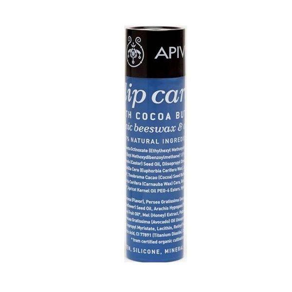 Apivita Lip Care Ενυδατικό Στικ Χειλιών Με Βούτυρο Κακάο Spf20 4,4g